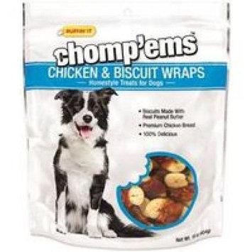 Rhode Island Textile Ruffin' It Chomp'Ems 8188 Chicken and Biscuit Wrap, 16 oz, Chicken/Peanut Butter Flavor