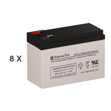APC CURK12 Replacement Batteries (12V 7.5AH ) (Set of 8)