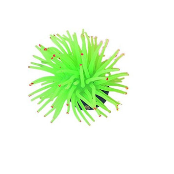 Big Size Silicone Coral Ornament for Aquarium Fish Tank,Green