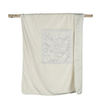Barefoot Dreams Signature Plush Receiving Blanket (Cream)