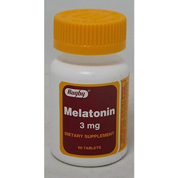 Rugby Melatonin Tablets, 3mg, 60ct (6 Pack)