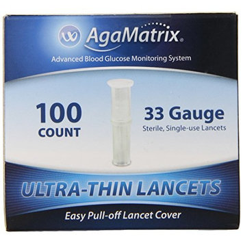 5 Pack AgaMatrix WaveSense Ultra-Thin 33 Gauge Lancets 100 Count Each