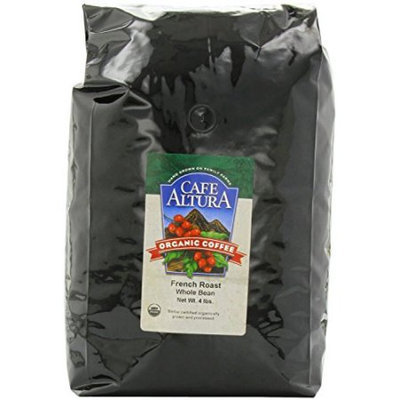Cafe Altura Organic Coffee French Roast 64-Ounce -Pack of 4