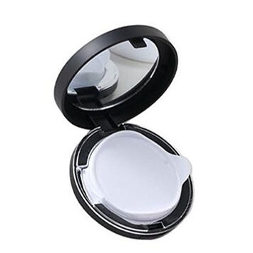 1PCS 15ml 0.5oz Black Empty Powder Puff Box Liquid Foundation BB Cream Container Holder Powder Box Dressing DIY Makeup Box Case With Powder Puff Air Cushion Sponge Mirror For Women Girls
