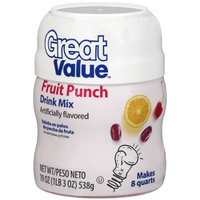 Great Value: Fruit Punch Drink Mix, 19 Oz