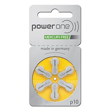 Power One Size 10 Zinc Air Hearing Aid Batteries (60 batteries)