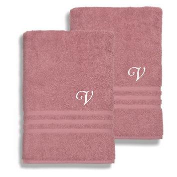 Denzi Cotton Bath Sheets - Set of 2 by Linum Home Textiles [monogram_letter: monogram_letter-o]