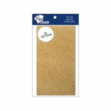 Gift Card 2x3.5 50pc Brown Bag