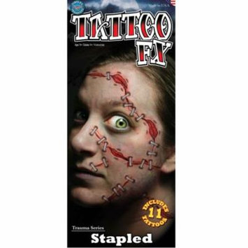 Tinsley Tattoo FX Halloween Costume Makeup Stapled Temporary Tattoo