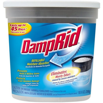 DampRid Refillable Moisture Absorber, Fragrance Free 10.5 oz
