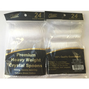 Quality Home Heavy Weight Crystal Spoons - 48 Pack + FREE SHIPPING!