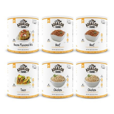 Augason Farms' Food Storage Meat Substitute Variety 6-Pack
