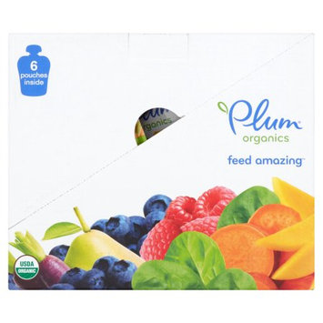 Wal-mart Stores, Inc. Plum Organics Stage 3 Carrot, Sweet Potato, Corn, Pea & Chicken Baby Food 4 oz. Pouch (Pack of 6)