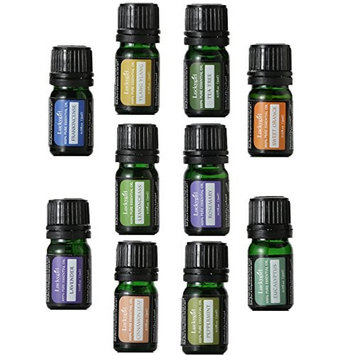 Luckygirl Essential Oils Set, Top 10 100 Pure Aromatherapy Essential Oil Kit, 10 x 5 ml (Lavender, Sweet Orange, Peppermint, Tea Tree, Eucalyptus, Lemongrass, Bergamot, Frankincense etc.) …