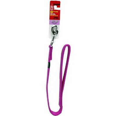 Dogit Nylon Double Ply Dog Leash with Silver Plate Bolt Snap, X-Large, 24-Inch, Purple