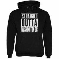 Straight Outta Washington DC Black Adult Hoodie