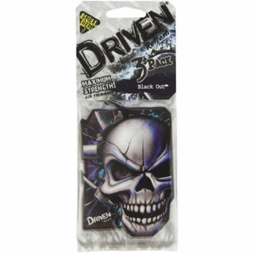 AMERICAN COVERS HANDSTANDS 75107 DRIVEN TM BY REFRESH HANGING AIR FRESHENER BLACK OUT