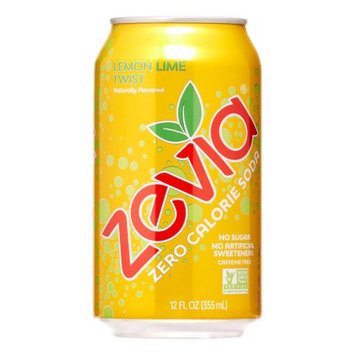 Zevia Lemon Lime Twist Soft Drink, 12 oz, 24 ct