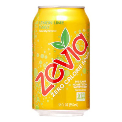 Zevia Lemon Lime Twist Soft Drink, 12 oz, 24 ct