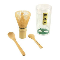 Matcha Whisk Set - Chasen (Green Tea Whisk), Small Scoop,Tea Spoon by BambooMN