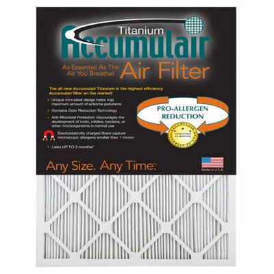 Accumulair Titanium 19.5x23.5x1 (Actual Size) High Efficiency Allergen Reduction Air Filter/Furnace Filters (2 Pack)