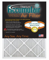 Accumulair Titanium 08x19.5x1 (Actual Size) High Efficiency Allergen Reduction Air Filter/Furnace Filters (4 Pack)