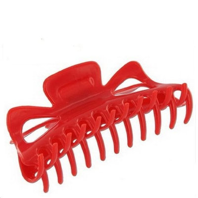 Extra Large Claw Clip Ponytail Hair Holder (Red)