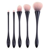 Globeagle 5pcs Small Pretty Waist Shape Makeup Brush Eyes Foundation Powder Brushes