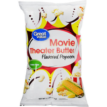 Great Value Movie Theater Butter Flavored Popcorn, 7.5 oz
