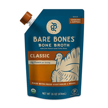 Organic Turkey Bone Broth by Bare Bones – Organic, Turkey Bone Broth, Protein/Collagen-rich, 16 oz (4 Pack)