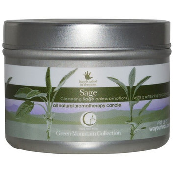 Way Out Wax, All Natural Aromatherapy Candle, Sage, 3 oz (85 g) [Scent : Sage]