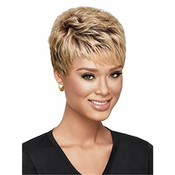 Women Wigs Ombre Blonde Dark Brown Hair Wigs Short Straight Natural Heat Resistant Synthetic Hair Wigs 10 inch
