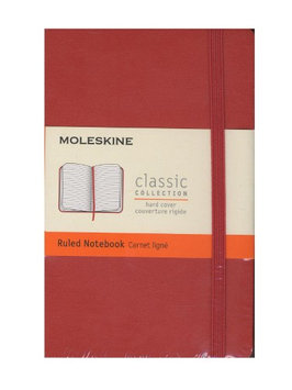 Moleskine Classic Hard Cover Notebooks coral orange, 3 1/2 in. x 5 1/2 in, 192 pages, lined [pack of 2]