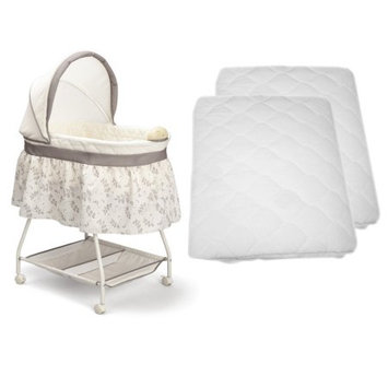 Delta Sweet Beginnings Bassinet with 2 Waterproof Mattress Pads