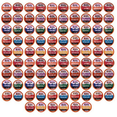 96 Count K-Cup Variety Pack 10 Distinct Beantown Roasters Coffees No Decaf No Flavored for Keurig Brewers