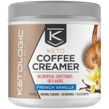 Keto Coffee Creamer French Vanilla - FRENCH VANILLA (13.5 Ounces Powder) by KetoLogic at the Vitamin Shoppe