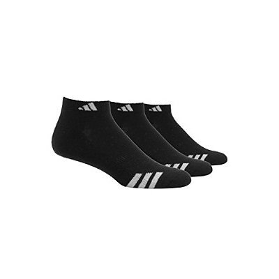 adidas 3-Stripe 3 Pack Low Cut Socks - Mens - Black/White