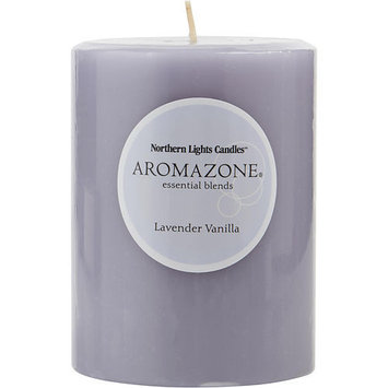LAVENDER & VANILLA ESSENTIAL BLEND by Lavender & Vanilla Essential Blend - ONE 3x4 inch PILLAR ESSENTIAL BLENDS CANDLE. BURNS APPROX. 80 HRS. - UNISEX