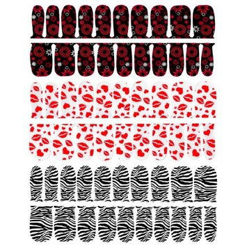 SHANY Nail Stickers and Strips - Winter Colors - set of 3