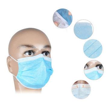 50Pcs Disposable Medical Dustproof Surgical Face Mouth Masks Ear Loop