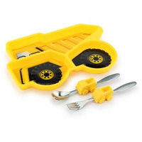 KidsFunwares Me Time Polypropylene Plate and Utensil Set, Dump Truck, BPA Free