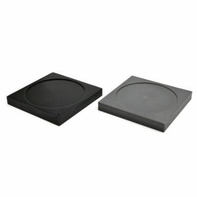 Ice Melting Plates with Depression, 1 Aluminum Plate, 1 Plastic Foam Plate