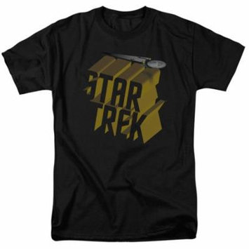 Star Trek/3D Logo S/S Adult 18/1 Black Cbs1427