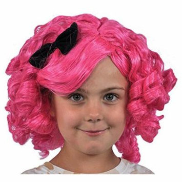 Blue and Gold Lalaloopsy Crumbs Sugar Wig Child Halloween Costume, One Size, Wig