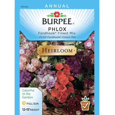 Burpee-Phlox, Fordhook Finest Mix Seed Packet