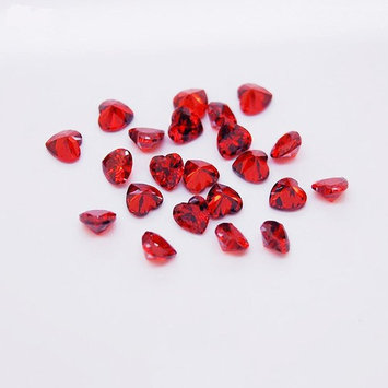 10pcs DIY Love Heart Red Zircon Crystal Rhinestone Nail Art Cell Phone Decoration Nail Stickers 4x4mm by Etopsell