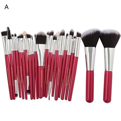 Chartsea 22pc Makeup Brushes Set Premium Kabuki Brushes Synthetic Foundation Blending Blush Face Eyeliner Shadow Brow Concealer Lip Brush Tool Beauty Collection Cosmetic Brushes Kit (A)