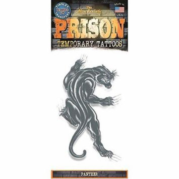 Tinsley Transfers Panther Prison Temporary Tattoo FX, Black White