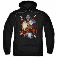 Jla/Deadshot Adult Pull Over Hoodie Black Jla639