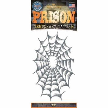 Tinsley Transfers Web Prison Temporary Tattoo FX, Black White